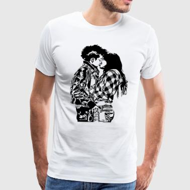 valentines day kiss t shirt - Men's Premium T-Shirt