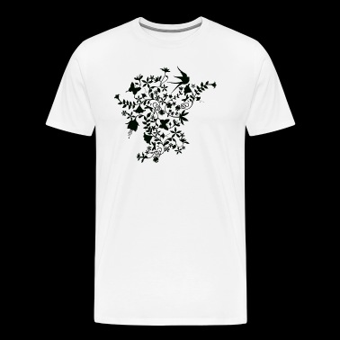 Flower and birds - Men's Premium T-Shirt