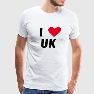 I love UK United Kingdom England Shirt Gift Idea - Men's Premium T-Shirt