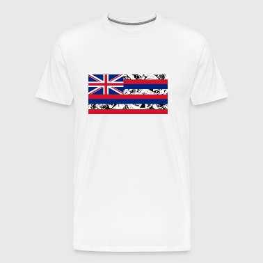 Hawaii State Flag - Horizontal - Polynesian - Men's Premium T-Shirt