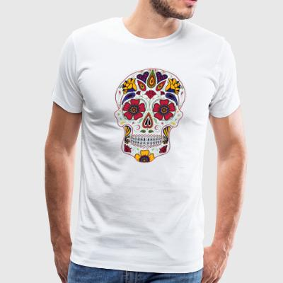 Day Of The Dead Sugar Skull Dark T shirt - Men's Premium T-Shirt