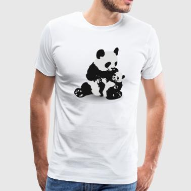 Cute Panda And Baby Panda - Men's Premium T-Shirt