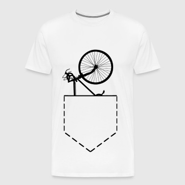 Bicycle Spare Bike In Pocket - Men's Premium T-Shirt