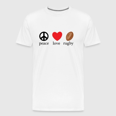 Rugby Peace Love Rugby - Men's Premium T-Shirt