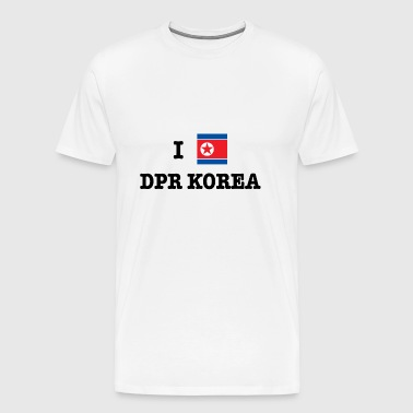 I Love North Korea (DPR Korea) - Men's Premium T-Shirt