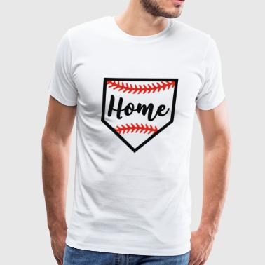 Baseball home plate - Men's Premium T-Shirt