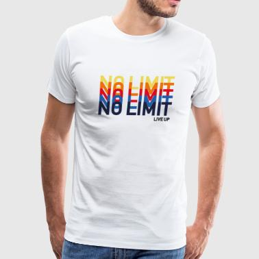 Cool No Limit Live Up Playful Funk Pop Art - Men's Premium T-Shirt