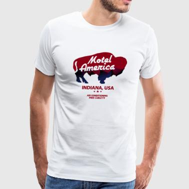 Free Cable Tv On Motel - Men's Premium T-Shirt