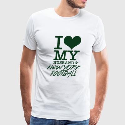 New york - I Love My Husband & Newyork Football - Men's Premium T-Shirt