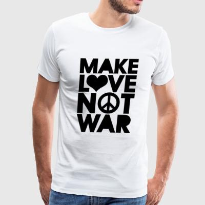 LOVE - MAKE LOVE NOT WAR - Men's Premium T-Shirt