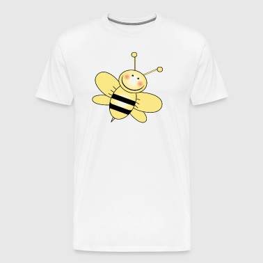 Bumble Bee with Yellow Wings - Men's Premium T-Shirt