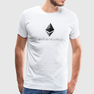 Ethereum Logo and Name Below - Men's Premium T-Shirt
