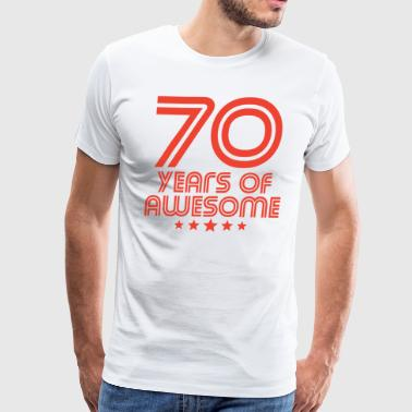 70 Years Of Awesome 70th Birthday - Men's Premium T-Shirt