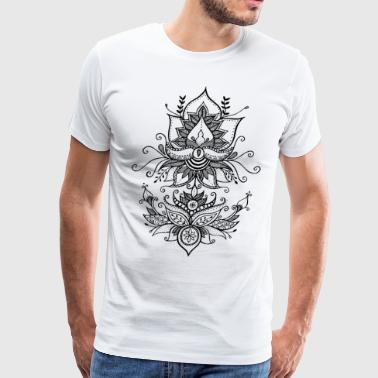 Double lotus - Men's Premium T-Shirt