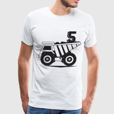 5th bithday for son t shirts - Men's Premium T-Shirt