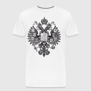 Gerb Rossii Old Coat of Arms of Russia Eagle - Men's Premium T-Shirt