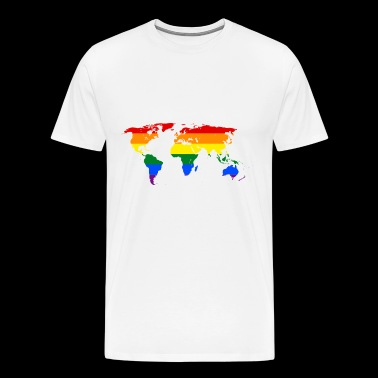 Rainbow Worldmap - Men's Premium T-Shirt