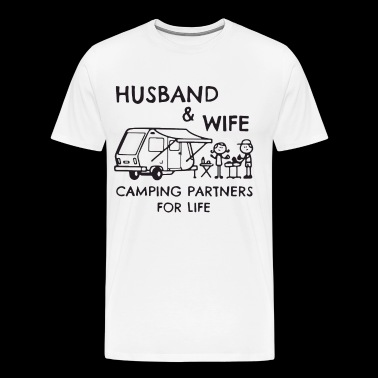 Husband and wife camping partners for life tshirt - Men's Premium T-Shirt