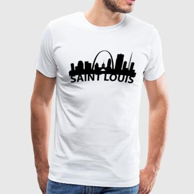 Arc Skyline Of Saint Louis MO - Men's Premium T-Shirt