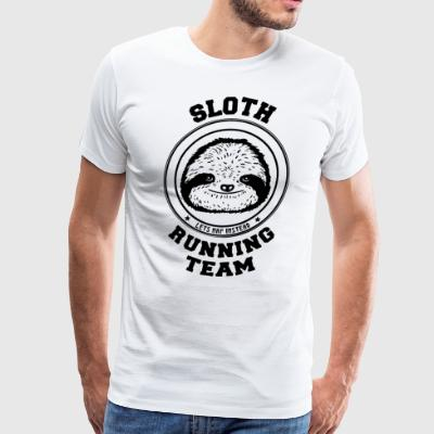 Sloth Running Team Kids Lazy Cute Cool - Men's Premium T-Shirt