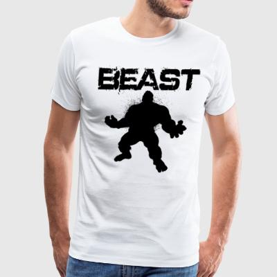 Beast Shirt Workout Mode Gym BodyBuilding Weight - Men's Premium T-Shirt