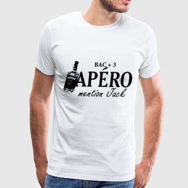 bac 3 apero mention jack - Men's Premium T-Shirt
