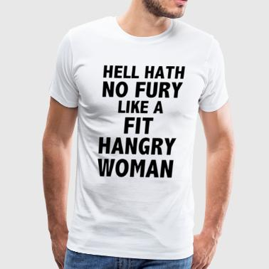 Hell hath no fury like fit hangry woman swimming t - Men's Premium T-Shirt