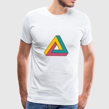 optical illusion colour logo - Men's Premium T-Shirt