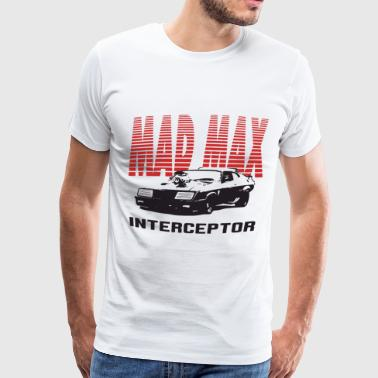 Mad Max Mfp Interceptor Retro Movie V8 Car Pursuit - Men's Premium T-Shirt