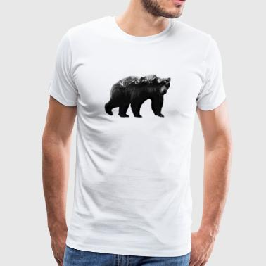 Bear and Mountains - Men's Premium T-Shirt