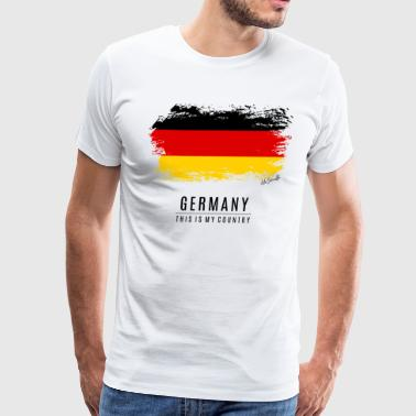 GERMANY FLAG - THIS IS MY COUNTRY - Men's Premium T-Shirt