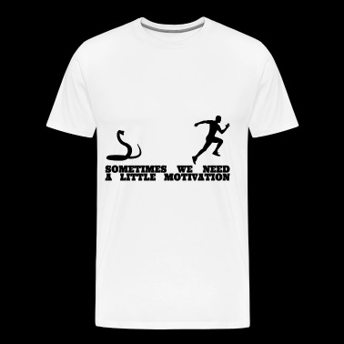 Snake Running Motivation Men Shirt - Men's Premium T-Shirt