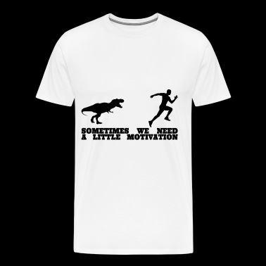 Dino Running Motivation Men Shirt - Men's Premium T-Shirt