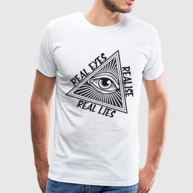 Men s Quote Real Eyes Realise Real Lies Hip Hop Il - Men's Premium T-Shirt