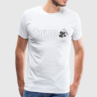 True Panda linear - Men's Premium T-Shirt