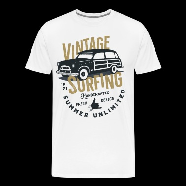 Vintage Surfing - Men's Premium T-Shirt