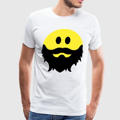 Bearded Smiley Face Beard Pirate Smiley - Men's Premium T-Shirt