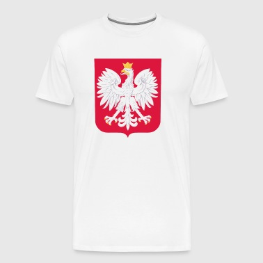 Polska Herb - Red White - Men's Premium T-Shirt