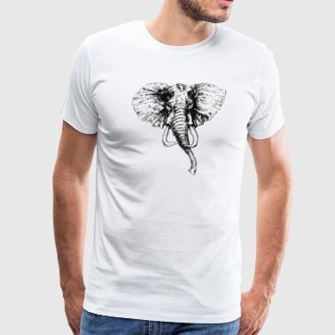 Elephant Face - Men's Premium T-Shirt