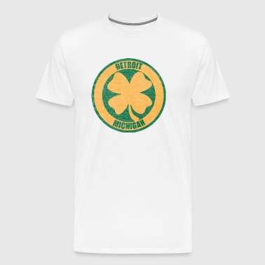 Detroit Irish Four Leaf Clover - Men's Premium T-Shirt