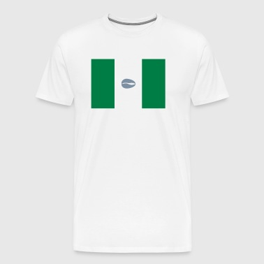 Nigerian flag with cowrie - Men's Premium T-Shirt