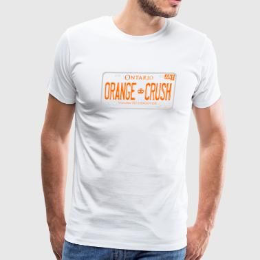 ONTARIO NDP ORANGE CRUSH LICENCE PLATE - Men's Premium T-Shirt