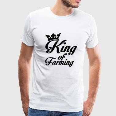 Farmer - King of farming - Men's Premium T-Shirt