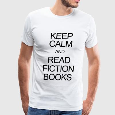 Fiction book - keep calm and read fiction books - Men's Premium T-Shirt