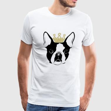 Boston terrier - Boston Terrier with Crown - Men's Premium T-Shirt