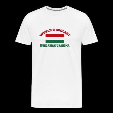 Hungarian - world's coolest hungarian grandma - Men's Premium T-Shirt