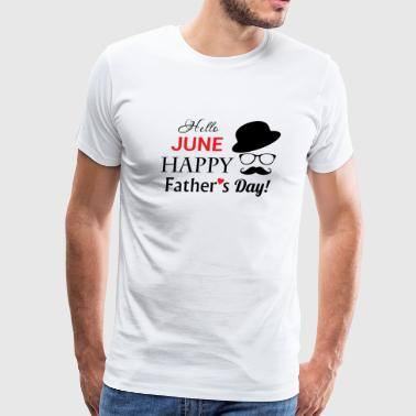 Father's day - happy father's day - Men's Premium T-Shirt