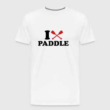 I love Paddle - Men's Premium T-Shirt