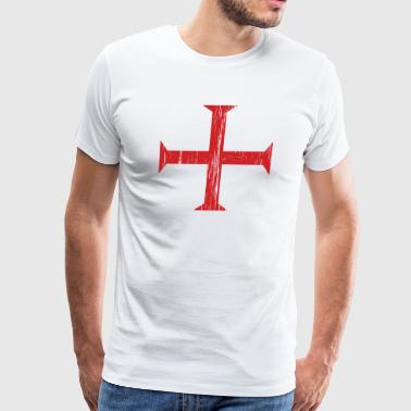 Knights Templar Crusader Cross - Men's Premium T-Shirt