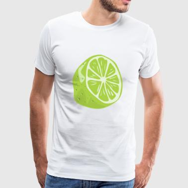 Lime Citrus Lemon Citric Fruit Sour Cocktail Gift - Men's Premium T-Shirt